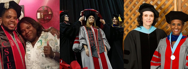 Students and faculty at graduation